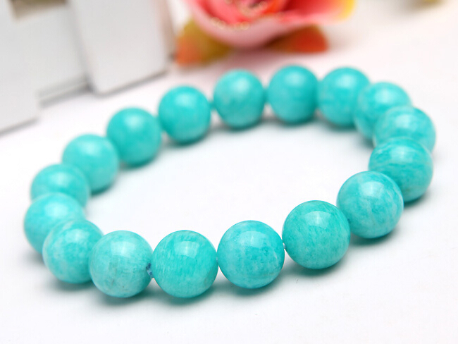 Genuine Mozambique Amazonite Natural Stone Bracelets For Women 13mm Big Stretch Charm Round Beads Jewelry Men BraceletGenuine Mozambique Amazonite Natural Stone Bracelets For Women 13mm Big Stretch Charm Round Beads Jewelry Men Bracelet