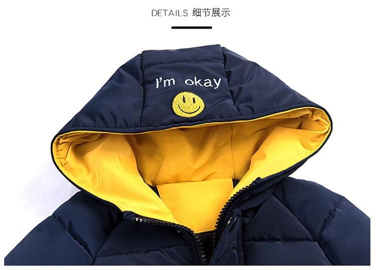 2018 Winter Girls Warm Jacket Kids Long Style Hooded Coat Children Plus Velvet Cotton Jacket Girl Thick Cotton Padded Outwear (18)