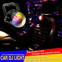 1Set USB Mini LED Stage Light Car DJ Disco Ball Light RGB Colorful LED Ball Bulb
