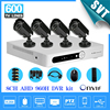Home CCTV 8CH DVR AHD 960h D1 Recording 4PCS IR Outdoor Waterproof CCTV Camera Security System