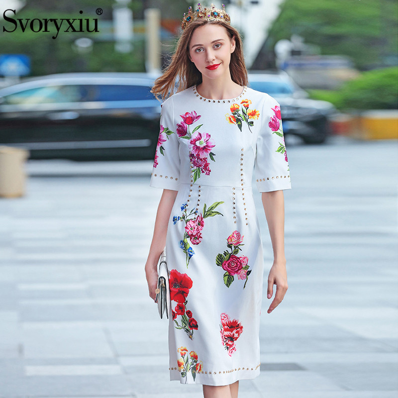Women Dress 100 Real Silk Holiday Floral Print Dresses Butterfly Sleeved 2019 New Summer Dresses for