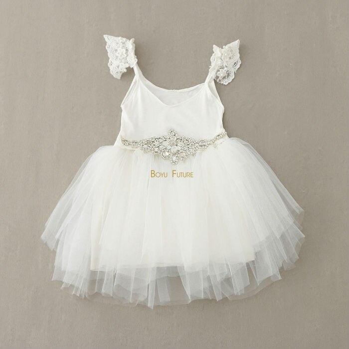 Popular Diamond White Flower Girl Dresses-Buy Cheap Diamond White ...