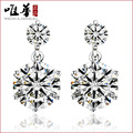 The only Chinese female Korean version of the twin Stud Earrings genuine 925  Jewelry Earrings Ear jewelry wholesale jewelry