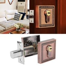 купить Zinc Alloy Door Lock Single Cylinder Deadbolt Lock Square Door Lock doorlock for Wood Door Locker cerradura puerta по цене 960.69 рублей