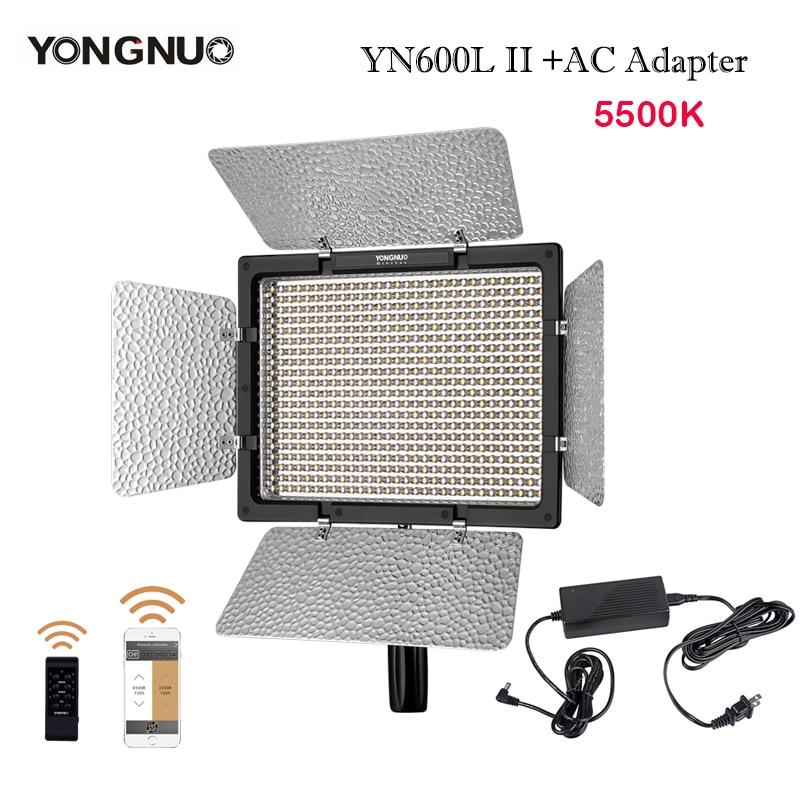 YONGNUO LED Video Light YN600L II 5500K 2 4G Bluetooth YN600 II 600 Panel with AC