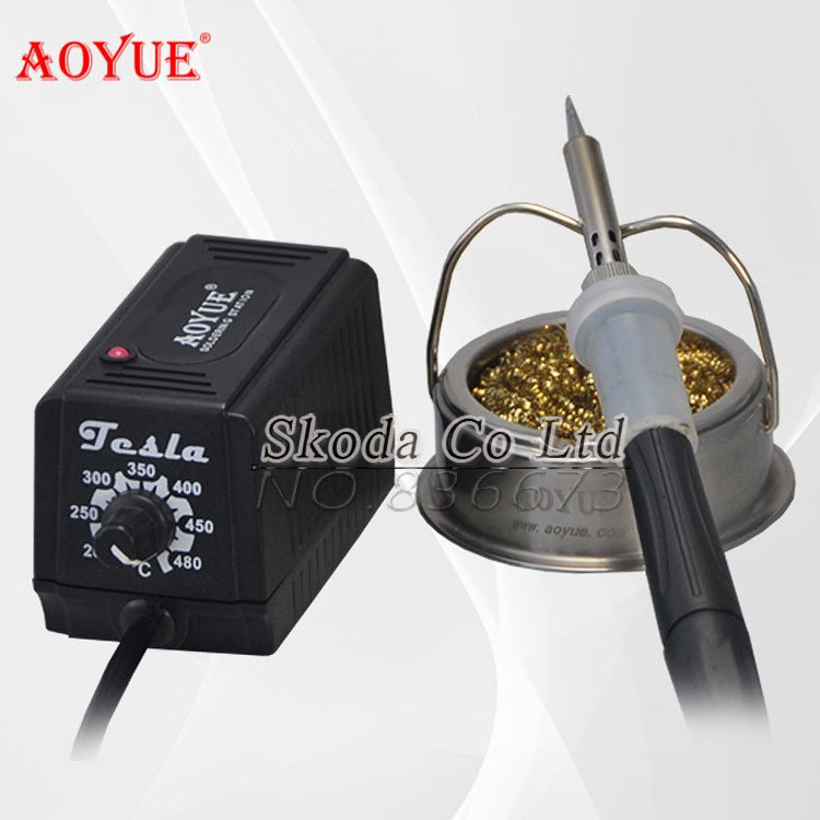 Фото Free shipping 220V AOYUE 463 Soldering station+metal stents Soldering Iron Tip Cleaner,PTC Heating Core ESD Safe welding station