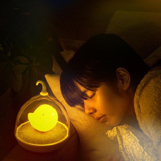 Новинка творческий украшения дома спальня лампа аккумуляторная смарт senser лампы night light светодиодной night light птичья клетка лампы IY106112