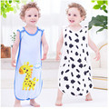 Summer baby sleeping bag cotton printed sling type anti kick by the baby penguin printing bag sleeping bag A-XBK-XD-002