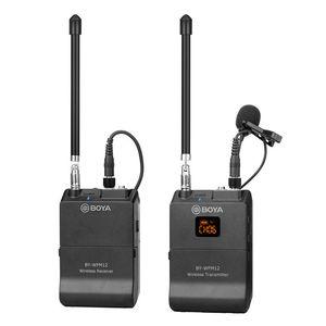 Image 3 - BOYA BY WFM12 VHF מיקרופון אלחוטי מערכת דש Lavalier מיקרופון עבור iPhone 8 7 בתוספת Smartphone DSLR מצלמה וידאו חי הקלטה