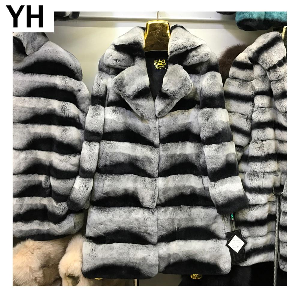 Hiver Long Lapin Qualité Réel Chaud Manteau Automne Rex Femmes Veste Fourrure Nouveau 2018 Style Grey De Nn0vw8Om