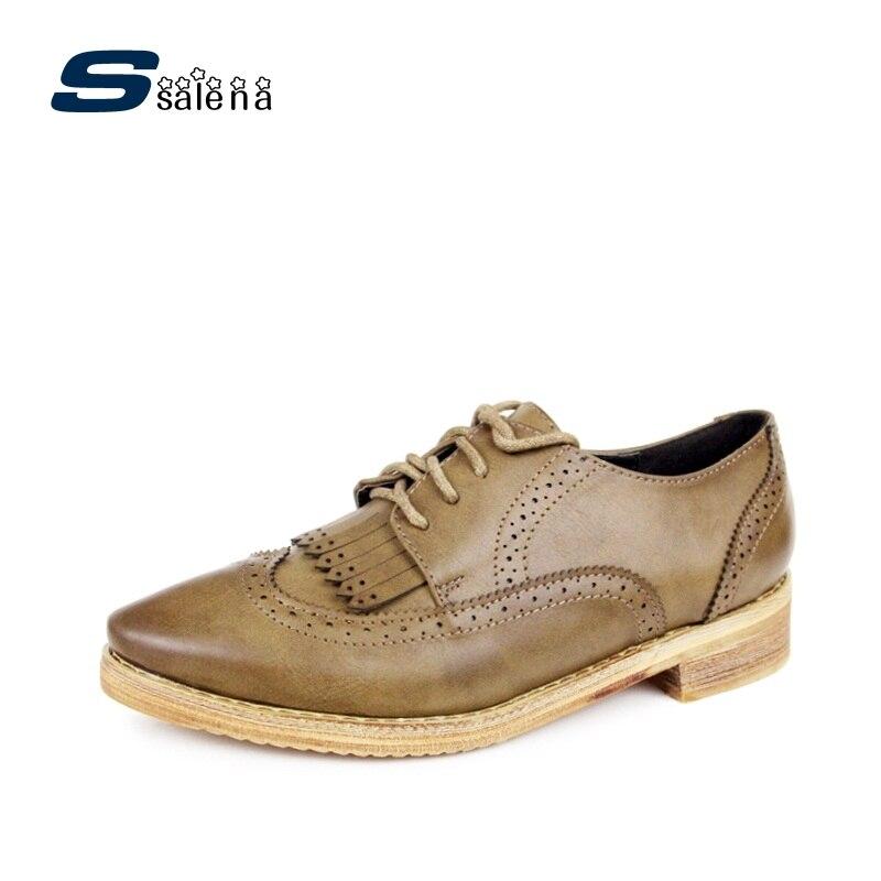 Chaussures Brogue femmes chaussures de mode chaussures souples classique chaussures plates pour femme chaussures de travail taille Eu 35-40 AA30097