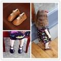 2017 venta caliente de los bebés de cuero princesa shoes shoes shoes de cuero de cuero verdadero de calidad superior para las niñas 1-3 años del artículo: xhm-566