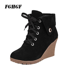 Milled medium boots for women flat The increased leisure fashion tourism Frosted wedge