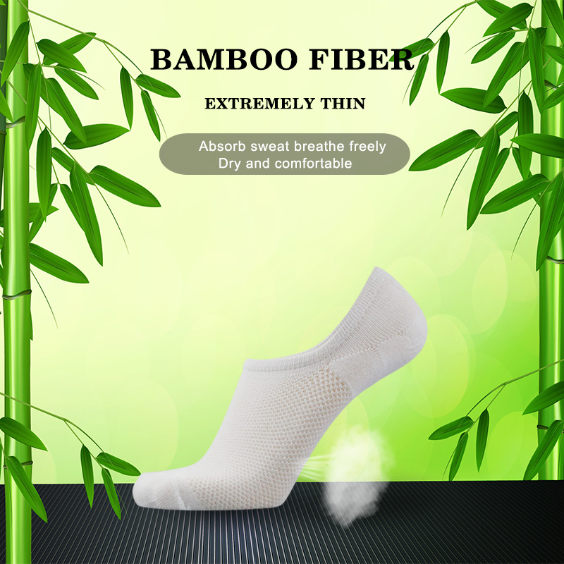 Up Grade Men Bamboo Fiber Combed Cotton Brand New Casual Business Anti-Bacterial Deodorant Breatheable Boat Sock 6 Pairs / Lot