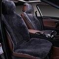 Capas de piel en el asiento del coche de Australia 100% piel de oveja piel esquilada Mouton premium cubierta del coche gris para coche lada granta C022