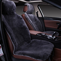 fur capes on the seat of the car of Australian 100% sheepskin shorn fur Mouton premium car  cover gray for car lada granta C022