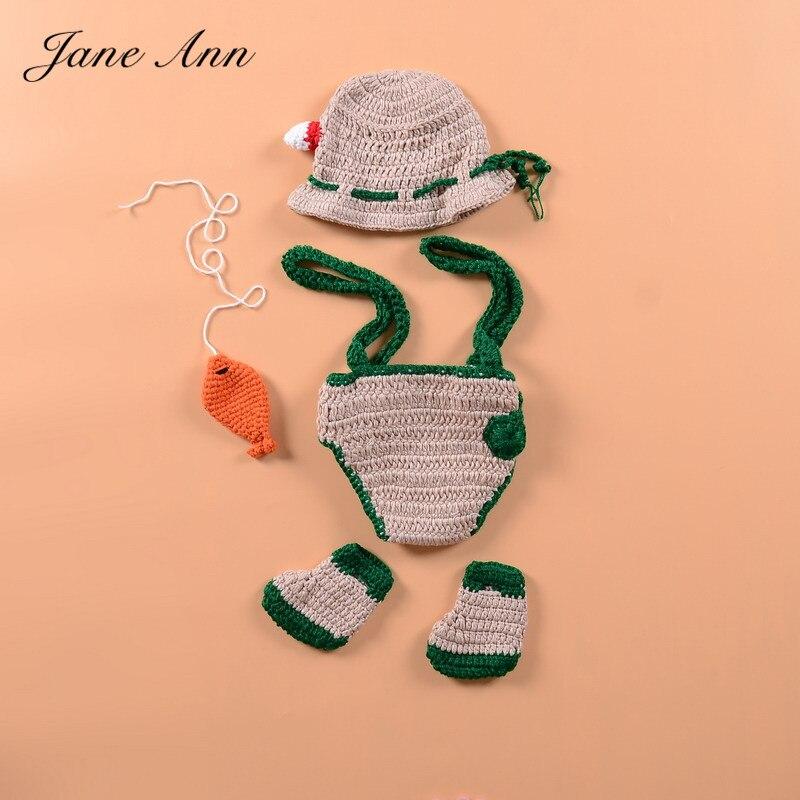 Jane Z Ann Newborn Baby Photography Props Crochet Infant Fishing