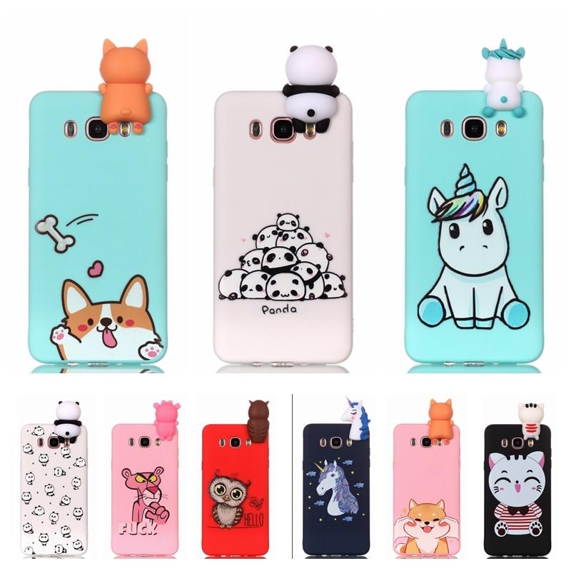 ef288b021ab Estuche para Samsung Galaxy J5 2016 j510 teléfono caso 3D unicornio Panda  perro funda de silicona en la sFor Coque Samsung j5 J3 J7 J en Casos  amueblada de ...