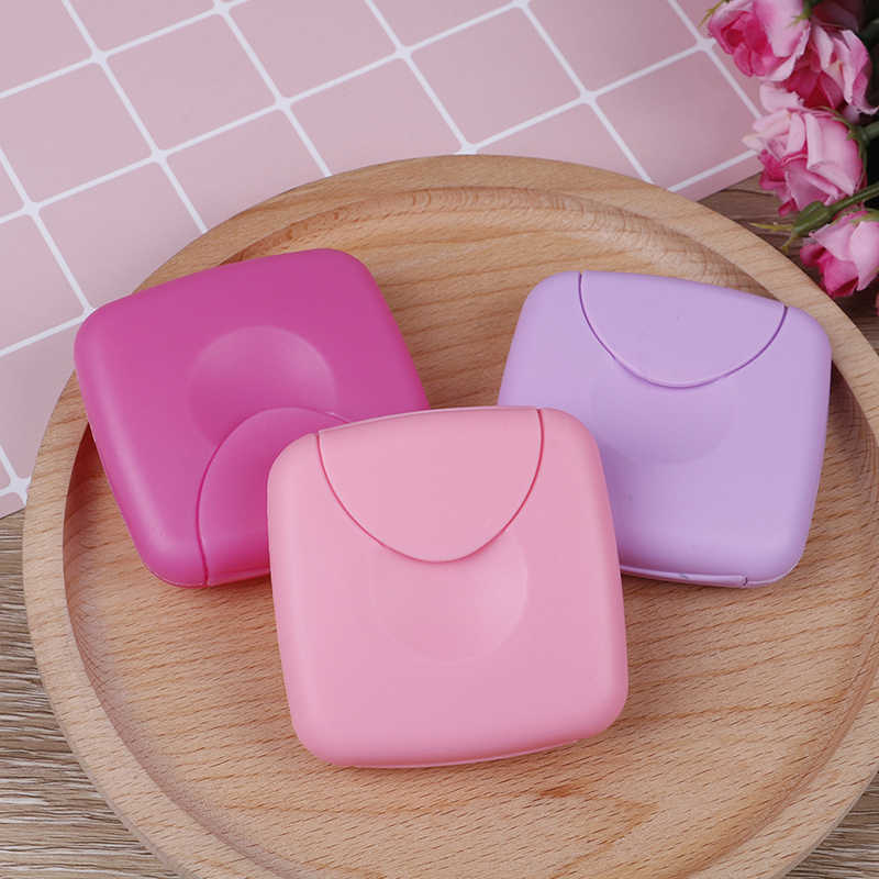 1Pcs/2pcs Travel Outdoor Portable Sanitary Napkin Tampons Box Holder For Women Random Color
