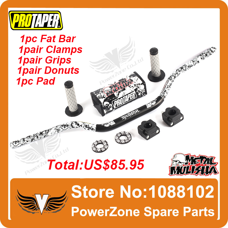 Pro Taper Fat Bar 1-1/8 Metal Mulisha Pack Dirt Bike MotorCross Fat Bar MX Aluminum Racing Handlebar 810mm FREESHIPPING свитшот print bar dirt 4