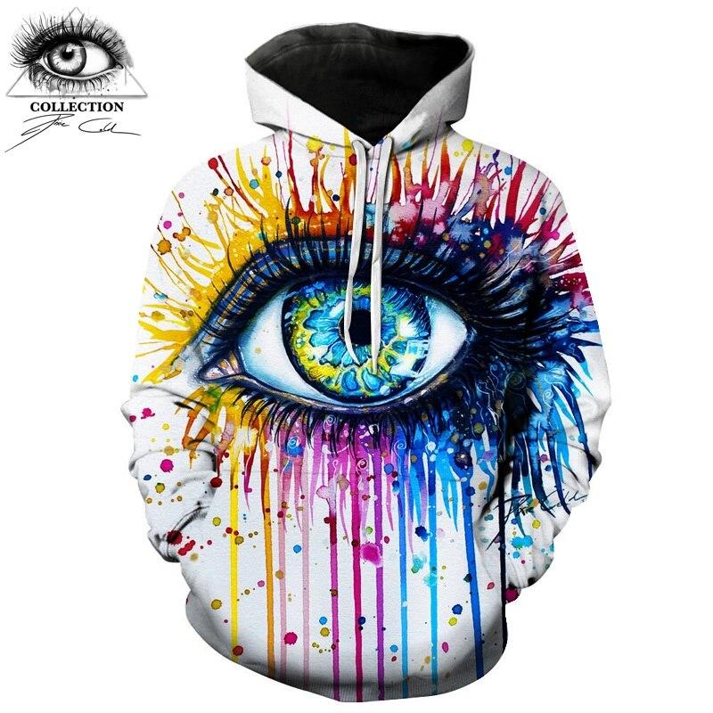 Arcobaleno occhio Da Pixie freddo arte Autunno Felpe Uomini Felpe 3d Stampa Pullover Divertenti Tute Streetwear Hoody ZOOTOP ORSO