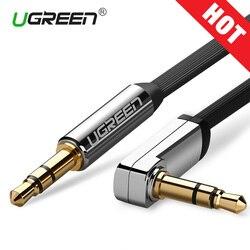 Ugreen كابل مساعد جاك 3.5 مللي متر الصوت كابل 3.5 مللي متر جاك كابل مكبر الصوت ل JBL سماعات سيارة Xiaomi redmi 5 زائد Oneplus 5 t AUX الحبل