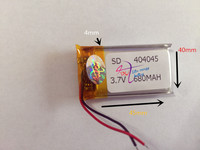 Lot S 10 Pcs 3 7V 680mAh 404045 Lithium Polymer Li Po Rechargeable Battery For DIY