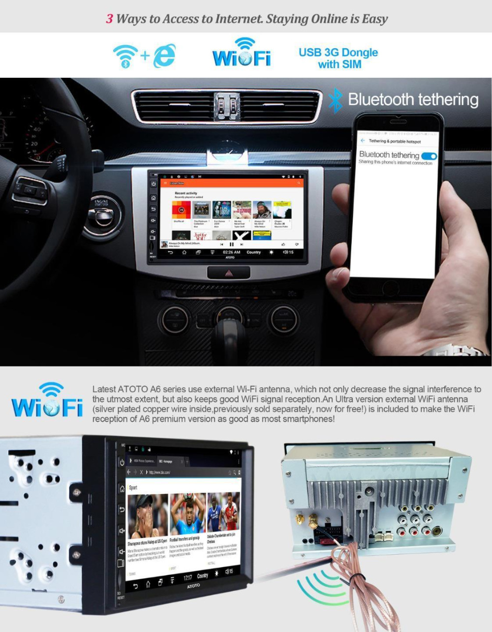 ATOTO A6 Double Din Android Head-unit