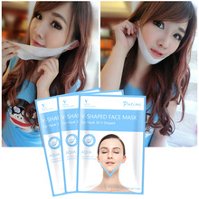 PUTIMI Women Slimming Lifting Face Mask Smooth Wrinkles Hanging Ear V Gel Masks for Reduce Double Chin Neck 2Pcs