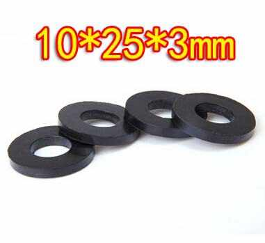 100pieces lot oil resistant rubber sealing washer faucet washers 10x25x3mm inner d 10mm d 25mm thickness 3mm