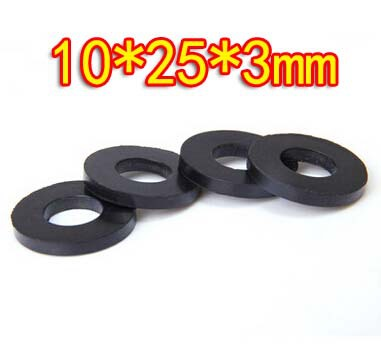 Oil resistant rubber sealing washer faucet washers 10x25x3mm(Inner d ...