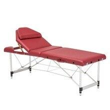 186 см* 66 см алюминиевый сплав ПВХ Регулируемый подъемный массажный стол спа тату мебель для красоты портативный складной массажный салон кровать