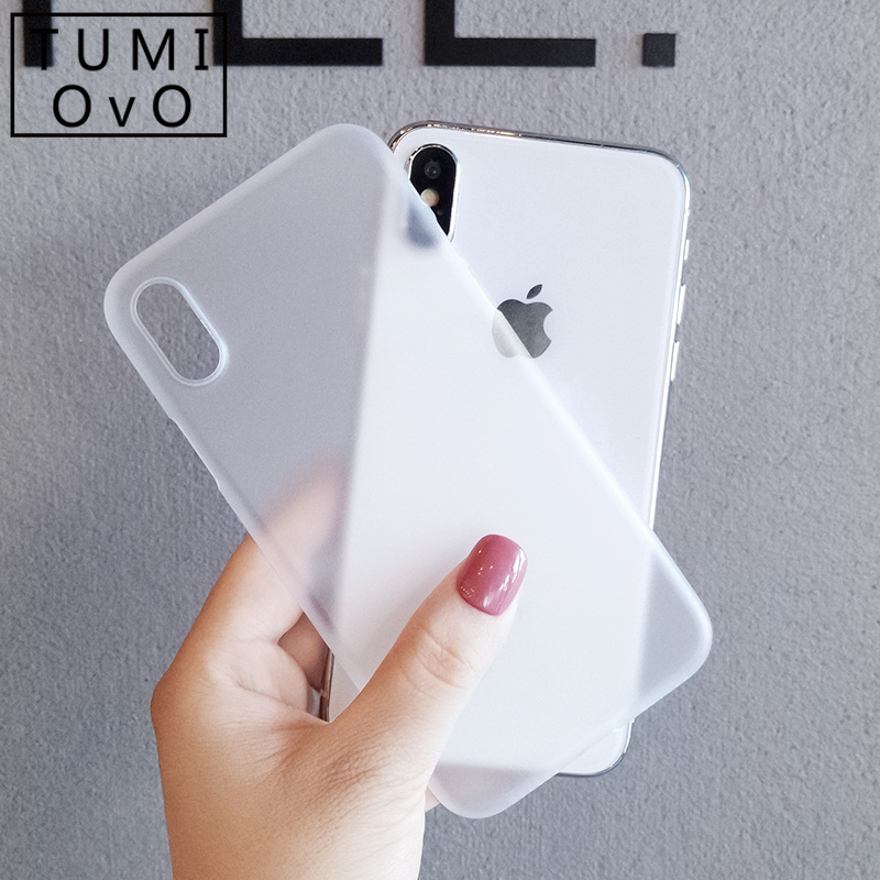 Ultra-thin Matte Case For IPhone 7 8 Plus Transparent SImple Case For IPhone 6 6s X Xr Xs Max Back Phone Cover Capa Fundas