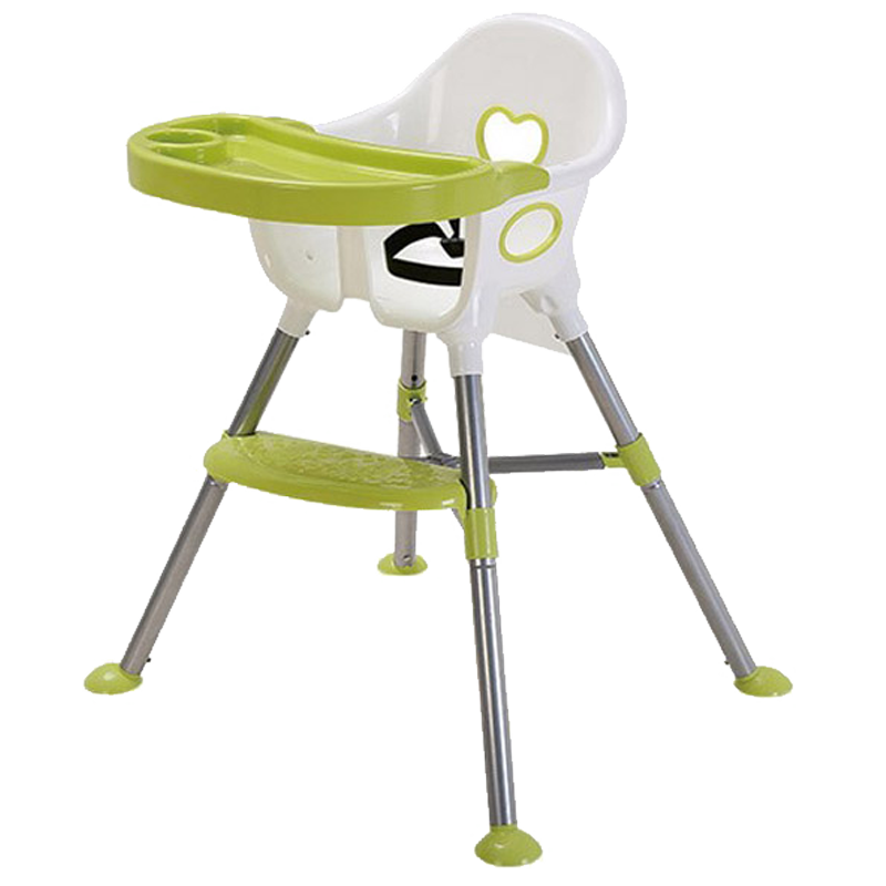Baby High Chair Baby Highchair Portable Feeding Chair Portable Folding Kids Table and Chair Children Child Eating Dinning Chair the silver chair