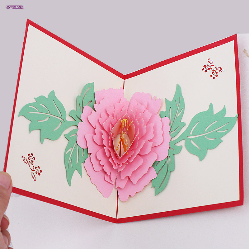 Online buy wholesale roses invitation from china roses for 3d rose wedding invitations