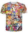 Totalmente 80 s camiseta Jem and the Holograms Care Bears ThunderCats Alvin las ardillas carácter camiseta de la historieta tee para mujeres hombres