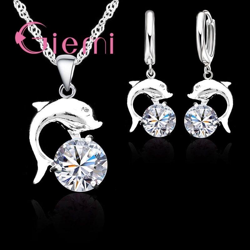 Bridal Jewelry Sets 90% Off Wedding Jewelry Sets For Brides 925 Sterling Silver Set Gold Color Stud Earrings Ring Necklace Bridal Jewelry To Be Distributed All Over The World Jewelry & Accessories