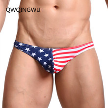 Briefs Men's Underwear Thongs American Flag Sexy Striped Briefs