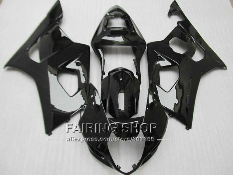 Free customize injection molded fairing kit for Suzuki GSXR1000 03 04 K3 K4 glossy black fairings set GSXR 1000 2003 2004 WT22 100% fit for suzuki injection molding gsxr1000 fairing kit k3 k4 2003 2004 brown black fairings set gsxr 1000 03 04 ap34