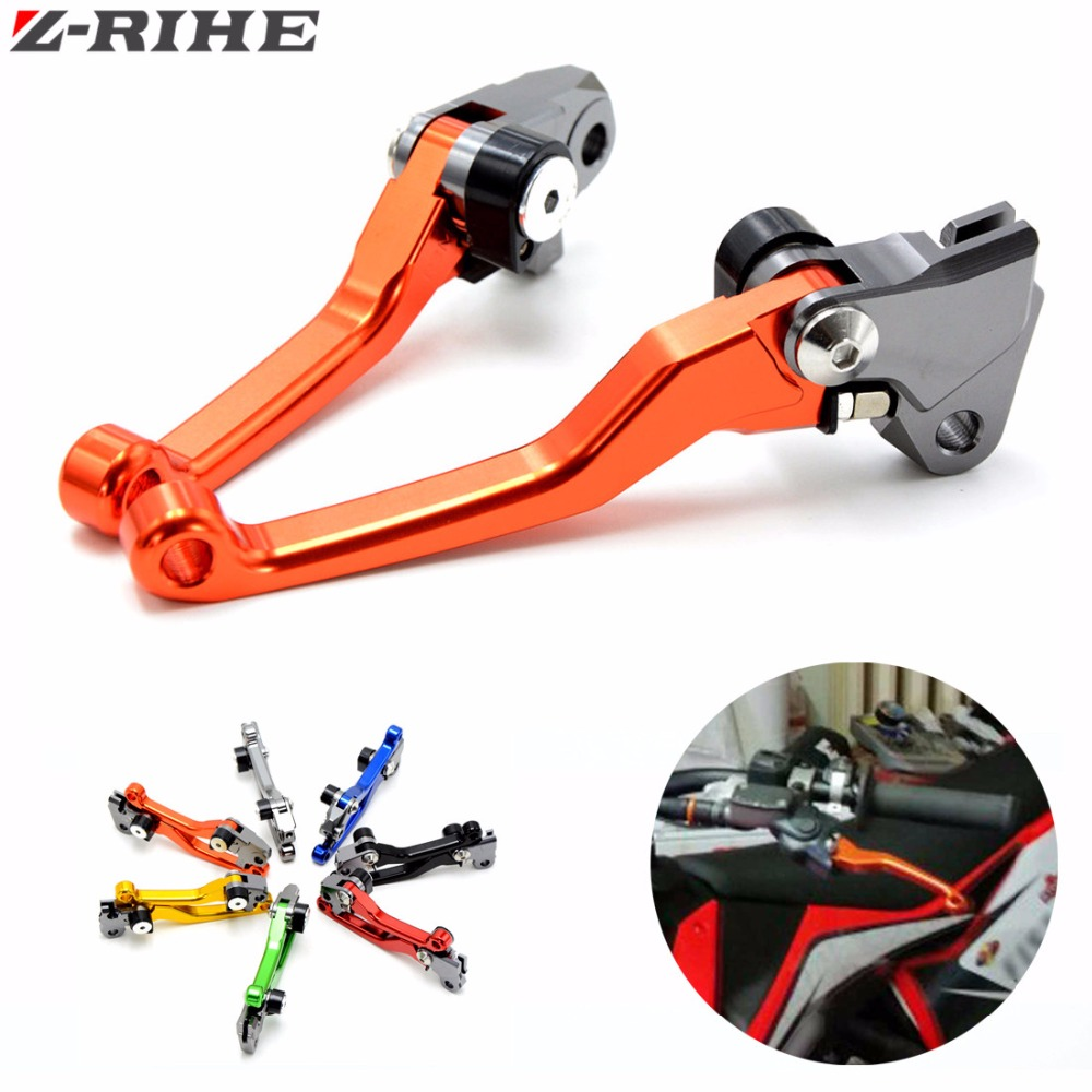 One Pair Top Quality CNC Pivot Brake Clutch Levers For KTM EXC EXC-R XC XC-W XC-F SX 300 505 400 450 530 YAMAHA KAWASAKI BMW new one pair golden color top quality cnc pivot brake clutch levers set for suzuki rm125 rm250 2004 2013 2005 2006 2007 2008