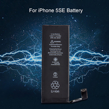 Internel 3.82V 1624mAh Replacement Li-ion Battery For iPhone SE Black Built-in Lithium Battery For iPhone SE A1723 A1662 A1724(China)