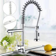 Chrome Одной ручкой Кухня torneira Cozinha вытащить вниз раковина + жидкого мыла + крышка бассейна раковина кран смеситель