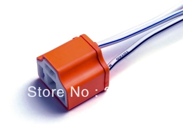 H4 Female Ceramic 2pcs Heat Resistance Headlight Wiring