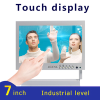 7 inch white capacitive touch display medical equipment instrument touch display industrial computer HDMI convenient small scree