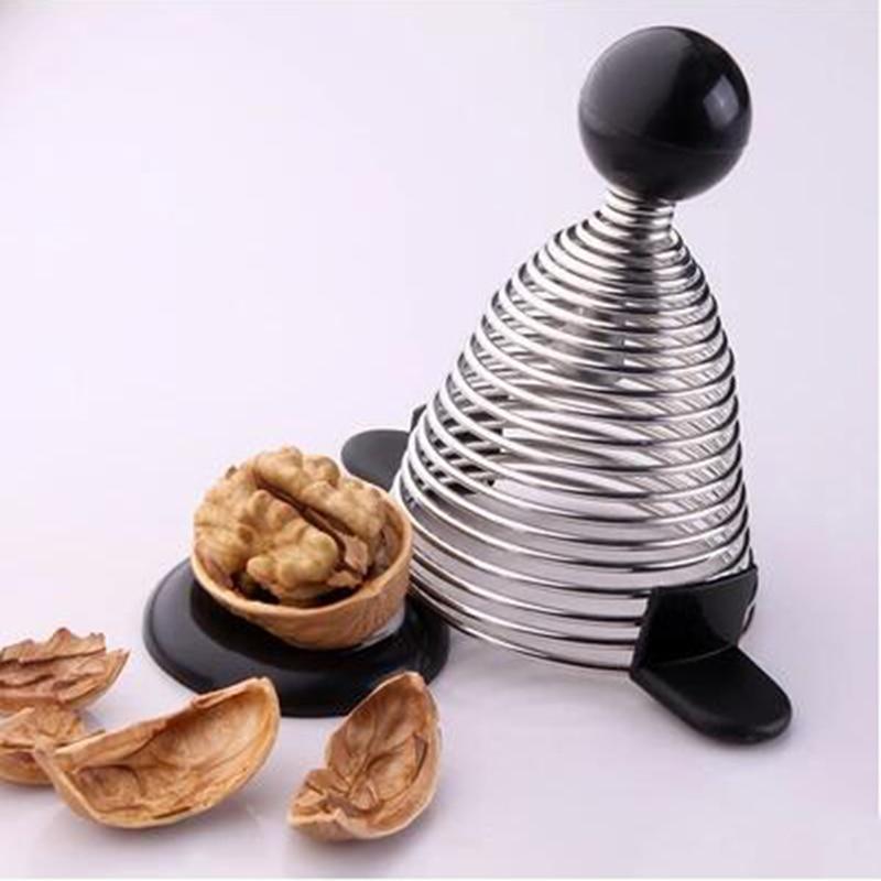 Stainless Steel Open Walnut Artifact Spring Nut Shell Cracker Creative Kitchen tools Gadgets Nutcracker29