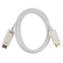 Larryjoe 1.8M 4K * 2K DP to HDMI Cáp Màn Hình Cổng Đực Sang HDMI Adapter dây cáp Cho 4K 1080P HDTV PC