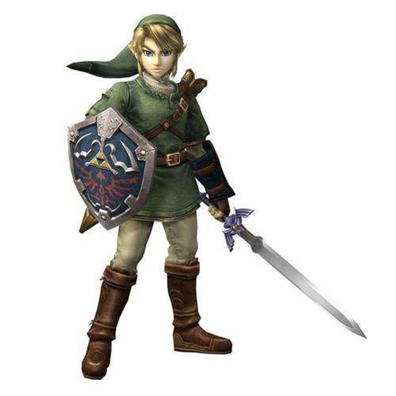 4 พวงกุญแจเครื่องประดับเกมตำนานของ Zelda พวงกุญแจโลหะ Shield Enamel Key Chain Key Ring สำหรับชายของที่ระลึกคอสเพลย์