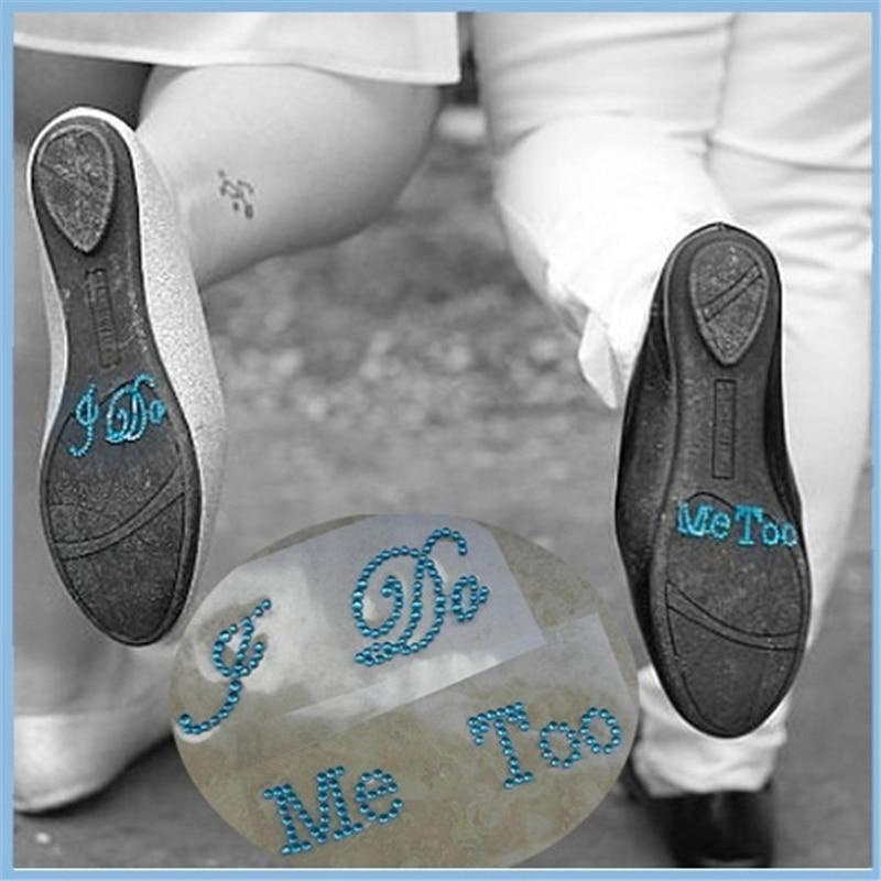 1Set I DO ME TOO Clear Rhinestones Shoes DIY Stickers Wedding Birthday  Party Supplies Rhinestones Art 489a86badbe2