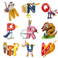 16 pcs/lot NEWEST 3D Puzzles Baby English Educational&Learning Letter Cartoon Puzzles Toy Letter Animal Puzzles