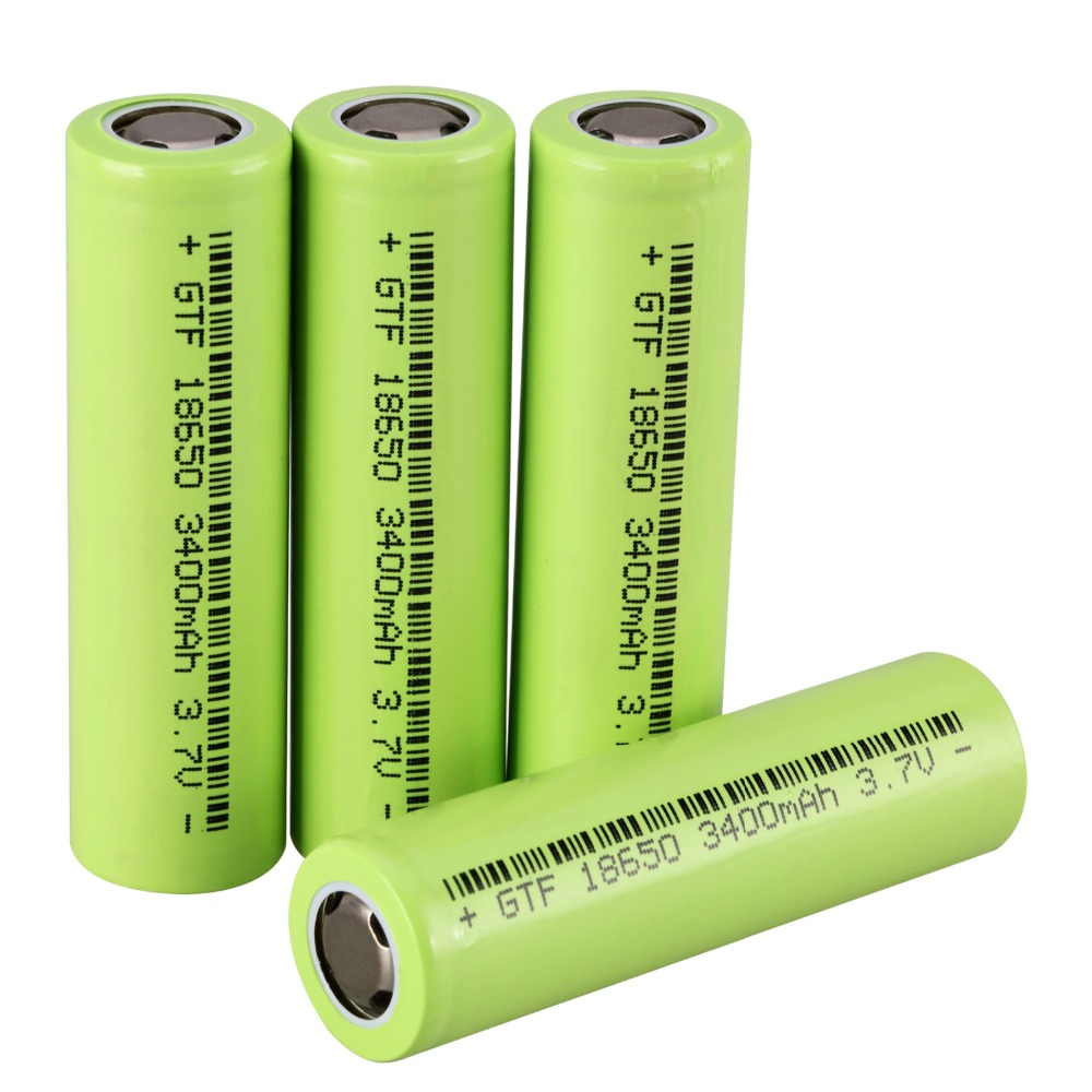 GTF 3.7V 3400mAh <font><b>18650</b></font> Protected Rechargeable Battery for Flashlights Headlamp Li-ion Flat Battery Panasonic NCR18650B cell image